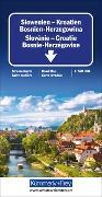 Cover-Bild zu Slowenien - Kroatien - Bosnien-Herzegowina. 1:500'000
