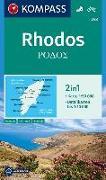 Cover-Bild zu KOMPASS Wanderkarte Rhodos. 1:50'000