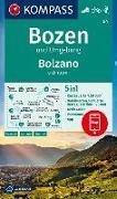 Cover-Bild zu KOMPASS Wanderkarte Bozen und Umgebung, Bolzano e dintorni. 1:50'000