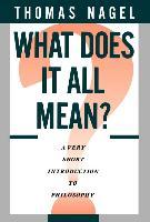Cover-Bild zu Nagel, Thomas: What Does It All Mean?