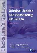 Cover-Bild zu Blackstone's Statutes on Criminal Justice & Sentencing von Padfield, Nicola (Reader in Criminal and Penal Justice, Fitzwilliam College, University of Cambridge) (Hrsg.)