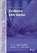 Cover-Bild zu Blackstone's Statutes on Evidence von Huxley, Phil (Former Principal Lecturer in Law at Nottingham Trent University) (Hrsg.)