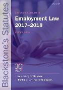Cover-Bild zu Blackstone's Statutes on Employment Law 2017-2018 von Kidner, Richard (Emeritus Professor of Law, Aberystwyth University) (Hrsg.)