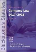 Cover-Bild zu Blackstone's Statutes on Company Law 2017-2018 von French, Derek (Author of Mayson, French & Ryan on Company Law and editor of Blackstone's Civil Practice) (Hrsg.)