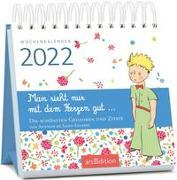 Cover-Bild zu de Saint-Exupéry, Antoine: Miniwochenkalender Man sieht nur mit dem Herzen gut ... 2022