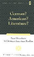 Cover-Bild zu Fluck, Winfried (Hrsg.): German? American? Literature?