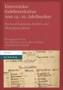 Cover-Bild zu de Boer, Jan-Hendryk (Hrsg.): Universitäre Gelehrtenkultur vom 13.-16. Jahrhundert