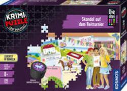 Cover-Bild zu Krimipuzzle Die drei !!! 200 Teile / Skandal auf dem Reitturnier