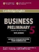 Cover-Bild zu Cambridge English Business Preliminary 5. Student's Book with answers