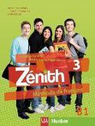 Cover-Bild zu Zénith 3 B1. Livre de l'élève. Kursbuch + DVD-ROM + Lösungsheft