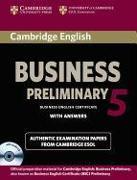 Cover-Bild zu Cambridge English Business 5. Preliminary. Student's Book with answers