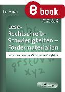 Cover-Bild zu Lese-Rechtschreib-Schwierigkeiten Fördermaterial 1 (eBook) von Ganser, Bernd (Hrsg.)