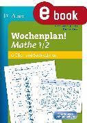 Cover-Bild zu Wochenplan Mathe 1/2, Größen und Sachrechnen (eBook) von Ganser
