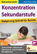 Cover-Bild zu Konzentration Sekundarstufe von Pauly, Hans-Peter