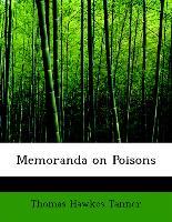 Cover-Bild zu Memoranda on Poisons von Tanner, Thomas Hawkes