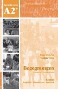 Cover-Bild zu Begegnungen A2+. Glossar von Buscha, Anne