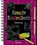 Cover-Bild zu Kreativ-Kratzelbuch: Einhörner von Loewe Kratzel-Welt (Hrsg.)