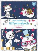 Cover-Bild zu Mein zauberhaftes Glitzermalbuch - Katzen von Loewe Kreativ (Hrsg.)