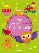 Cover-Bild zu Mein großes buntes Ausmalbuch (Eule) von Loewe Kreativ (Hrsg.)