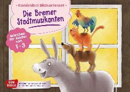 Cover-Bild zu Die Bremer Stadtmusikanten. Kamishibai Bildkartenset von Grimm, Brüder