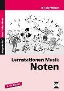 Cover-Bild zu Lernstationen Musik: Noten von Weber, Nicole