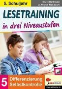 Cover-Bild zu Lesetraining in drei Niveaustufen / Klasse 5 (eBook) von Hartmann, Horst