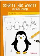 Cover-Bild zu Schritt für Schritt Zeichnen lernen. Lustige Tiere von Green, Martina (Illustr.)