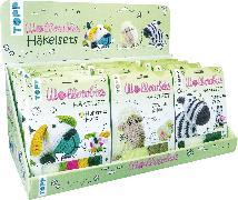 Cover-Bild zu Ganseforth, Jana: Wollowbies Häkelsets Zebra/ Schaf/ bunter Hund Display