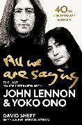 Cover-Bild zu Lennon, John: All We Are Saying