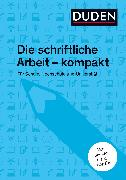 Cover-Bild zu Niederhauser, Jürg: Duden-Ratgeber Die schriftliche Arbeit (eBook)