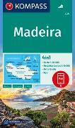 Cover-Bild zu Kompass-Karten Gmbh (Hrsg.): KOMPASS Wanderkarte Madeira. 1:50'000