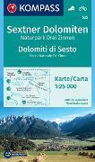 Cover-Bild zu KOMPASS-Karten GmbH (Hrsg.): KOMPASS Wanderkarte Sextner Dolomiten, Naturpark Drei Zinnen, Dolomiti di Sesto, Parco Naturale Tre Cime. 1:25'000