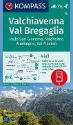 Cover-Bild zu KOMPASS-Karten GmbH (Hrsg.): KOMPASS Wanderkarte Valchiavenna, Val Bregaglia, Valle San Giacomo, Madésimo, Morbegno, Val Másino. 1:50'000