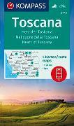 Cover-Bild zu KOMPASS-Karten GmbH (Hrsg.): KOMPASS Wanderkarte Toscana, Herz der Toskana, Nel cuore della Toscana, Heart of Tuscany. 1:50'000