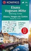 Cover-Bild zu KOMPASS-Karten GmbH (Hrsg.): KOMPASS Wanderkarte Elsass, Vogesen Mitte, Alsace, Vosges du Centre. 1:50'000