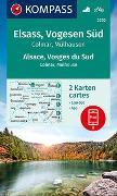 Cover-Bild zu KOMPASS-Karten GmbH (Hrsg.): KOMPASS Wanderkarte Elsass, Vogesen Süd, Alsace, Vosges du Sud, Colmar, Mülhausen, Mulhouse. 1:50'000