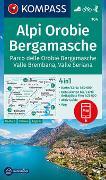 Cover-Bild zu KOMPASS-Karten GmbH (Hrsg.): KOMPASS Wanderkarte Alpi Orobie Bergamasche. 1:50'000