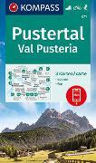 Cover-Bild zu KOMPASS-Karten GmbH (Hrsg.): KOMPASS Wanderkarte Pustertal, Val Pusteria. 1:25'000