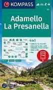 Cover-Bild zu KOMPASS-Karten GmbH (Hrsg.): KOMPASS Wanderkarte Adamello, La Presanella. 1:50'000