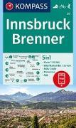 Cover-Bild zu KOMPASS-Karten GmbH (Hrsg.): KOMPASS Wanderkarte Innsbruck, Brenner. 1:50'000