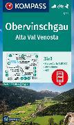Cover-Bild zu KOMPASS-Karten GmbH (Hrsg.): KOMPASS Wanderkarte Obervinschgau, Alta Val Venosta. 1:50'000