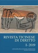 Cover-Bild zu Rivista ticinese di diritto I-2019