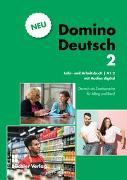 Cover-Bild zu Domino Deutsch 2 NEU I Lehr- und Arbeitsbuch mit Audios digital A1.2 von Büchler, Susanne