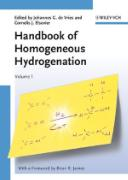 Cover-Bild zu de Vries, Johannes G.: The Handbook of Homogeneous Hydrogenation