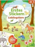 Cover-Bild zu Theissen, Petra (Illustr.): Erstes Stickern Lieblingstiere