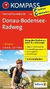 Cover-Bild zu KOMPASS-Karten GmbH (Hrsg.): Fahrrad-Tourenkarte Donau-Bodensee-Radweg. 1:50'000