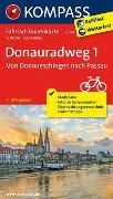 Cover-Bild zu KOMPASS-Karten GmbH (Hrsg.): Fahrrad-Tourenkarte Donauradweg 1, Von Donaueschingen nach Passau. 1:50'000