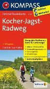 Cover-Bild zu KOMPASS-Karten GmbH (Hrsg.): Fahrrad-Tourenkarte Kocher-Jagst-Radweg. 1:50'000