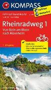 Cover-Bild zu KOMPASS-Karten GmbH (Hrsg.): Fahrrad-Tourenkarte Rheinradweg 1, Von Stein am Rhein nach Mannheim. 1:50'000