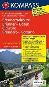 Cover-Bild zu KOMPASS-Karten GmbH (Hrsg.): Fahrrad-Tourenkarte Brennerradroute Brenner - Bozen - ciclabile Brennero - Bolzano. 1:50'000